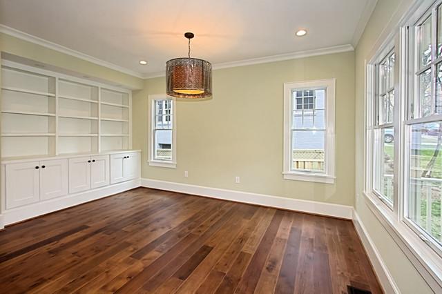 Custom Dark Stained Hickory Flooring - Traditional ...