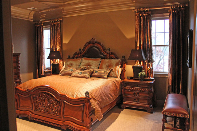 Custom Draperies And Curtains Traditional Bedroom