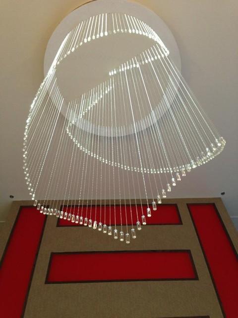 Custom Fiber Optic Chandelier Modern Dallas By Erik Thompson Quatro Lighting Designs