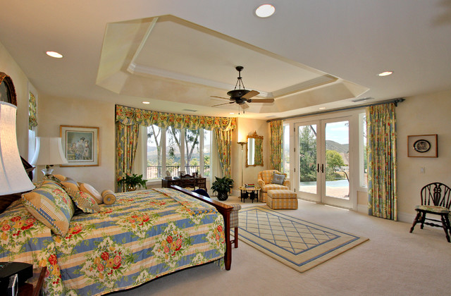 Custom Home Master Bedroom Traditional Bedroom San Diego By Ridley Interior Design