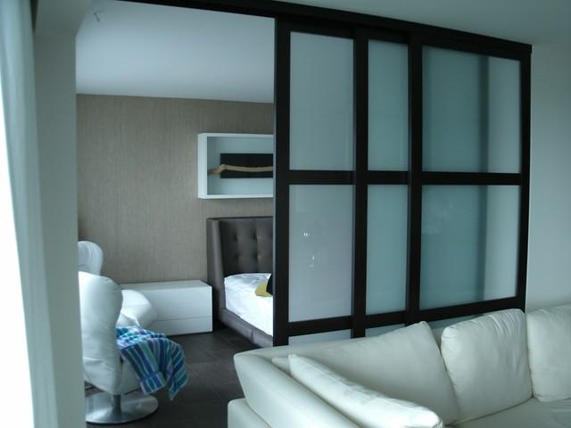 Custom interior glass room dividers for Sliding glass panels room dividers