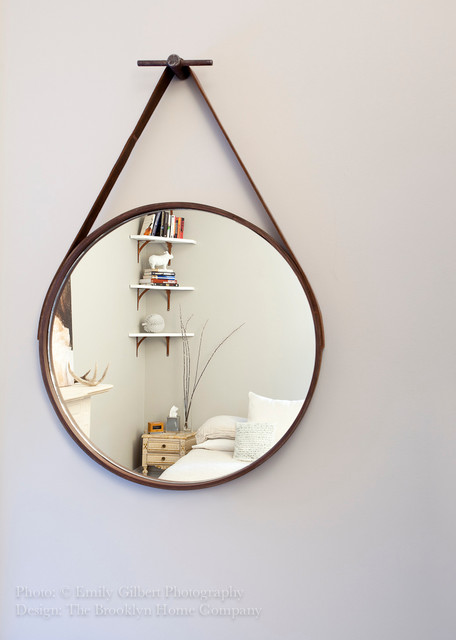 Custom Mirror and Shelving eclectic-bedroom