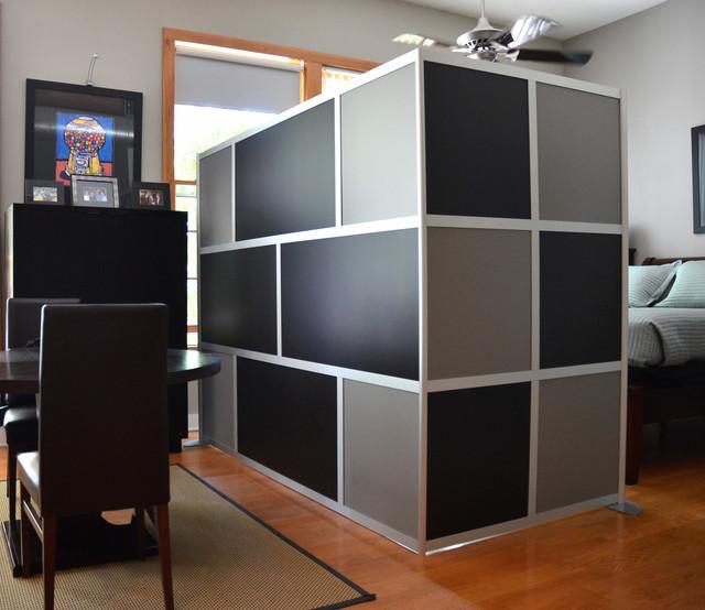 Custom Modern Room Divider Black & Gray Modern