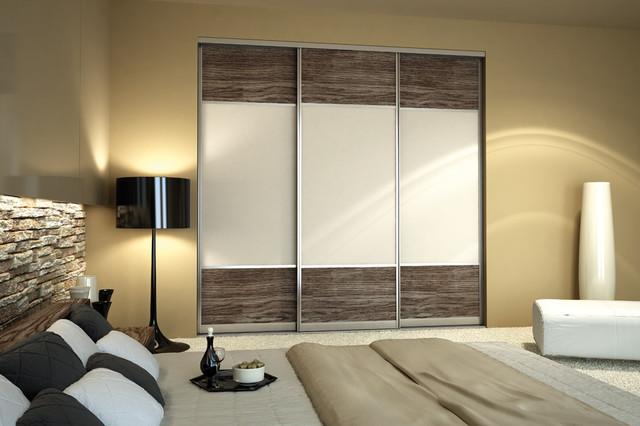 Custom Sliding Door Contemporary Bedroom