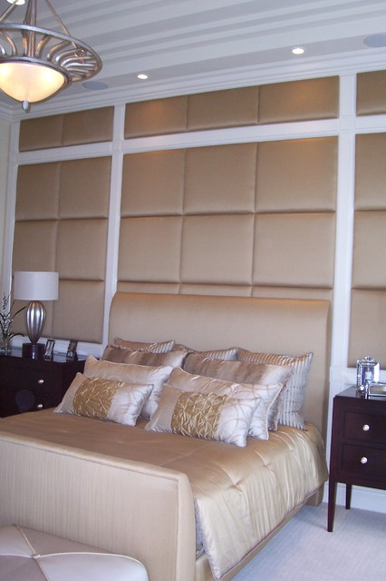 Custom Upholstered Wall Panels - Contemporary - Bedroom - other metro ...