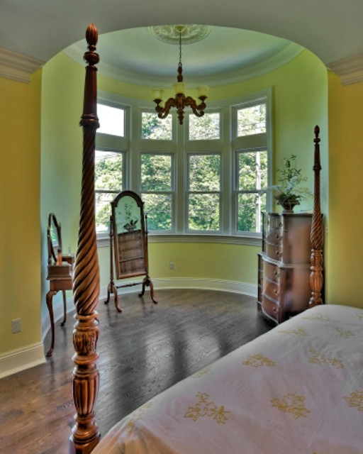 Custom Victorian Style Home Master Bedroom Interior