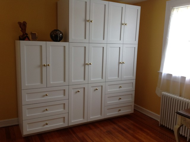 Custom Wall Units Traditional Bedroom New York By Cleary Custom Cabinets