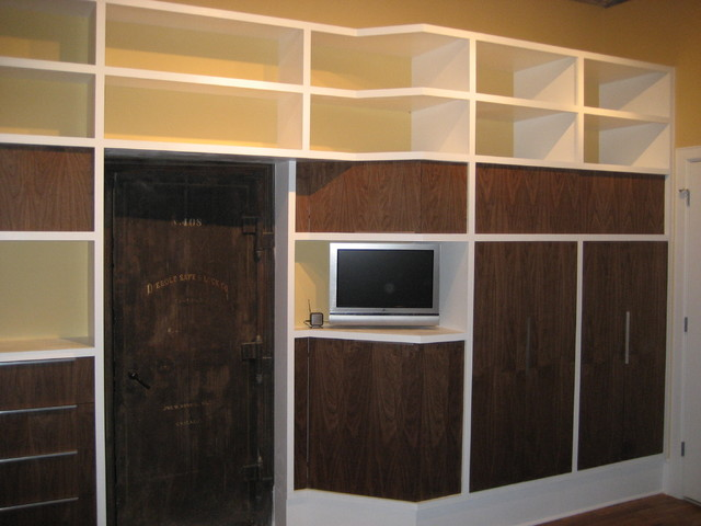custom wardrobe wall unit modern-bedroom