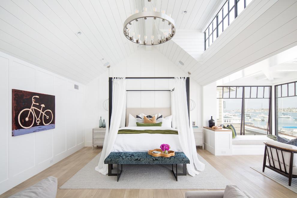 Custom White Oak Hardwood Floors - Beach Style - Bedroom - Orange County - By Gaetano Hardwood Floors, Inc.