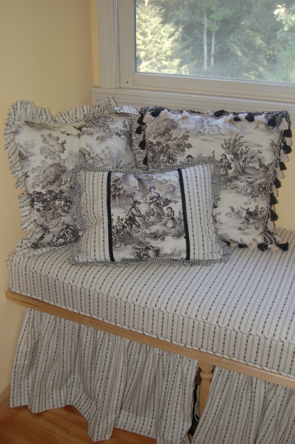 Custom Window Seat Cushions & Pillows traditional bedroom