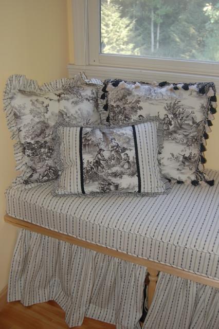 Custom Window Seat Cushions & Pillows traditional-bedroom