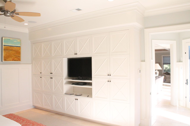 "Custom ""X"" Mullion Built-in Cabinetry"