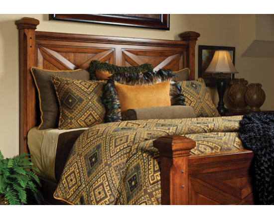 Bedding 2013 - DALLAS: Cactus Green, Gold an Charcoal fortify this robust geometric Chenille pattern.  Companion mini stripe and a solid Gold suede complement the colors.  This rugged look is topped off by the use of a heavily textured chenille fringe and a feathered trim.