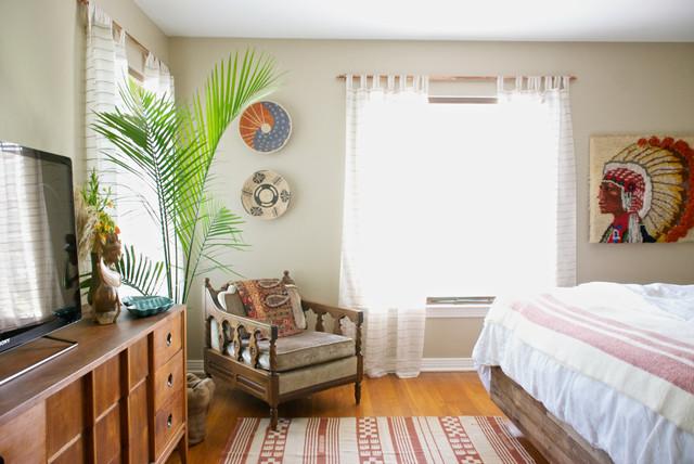 Dallas, TX: Bri and Trey Denton eclectic-bedroom