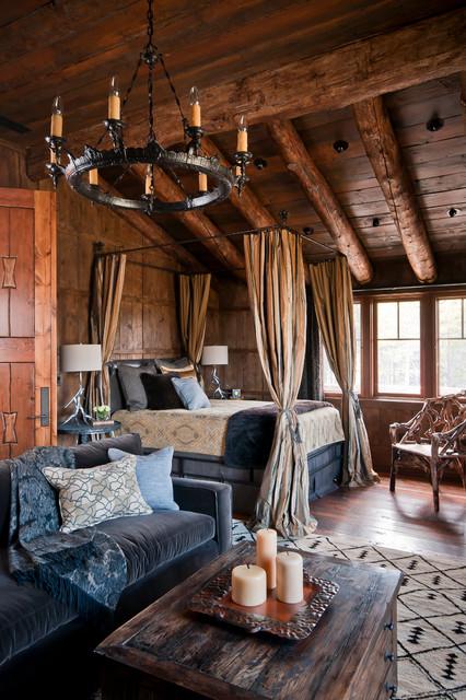 Dancing Hearts rustic-bedroom