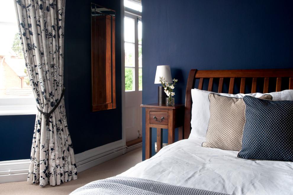 Mid-sized trendy bedroom photo in Kent