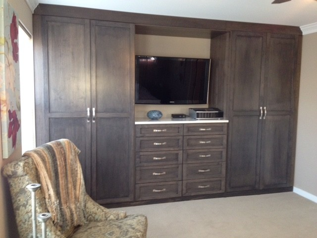 Dark Gray Closet Wall Unit