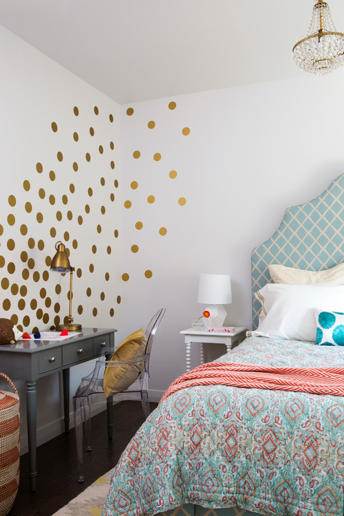 Having fun decorating with polka dots town country living for Girls bedroom paint ideas polka dots