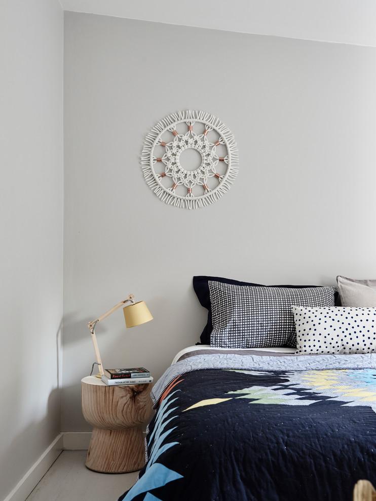 Bedroom - scandinavian bedroom idea in Melbourne