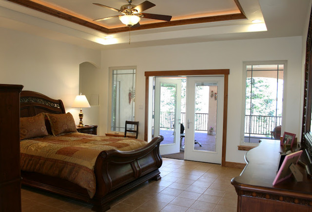 Deck Off Master Mediterranean Bedroom By Pioneer West Homes