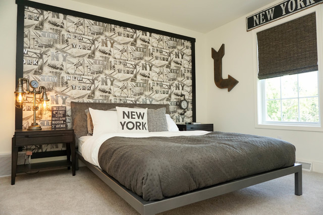 Delicieux Decorated Model Homes Transitional Bedroom