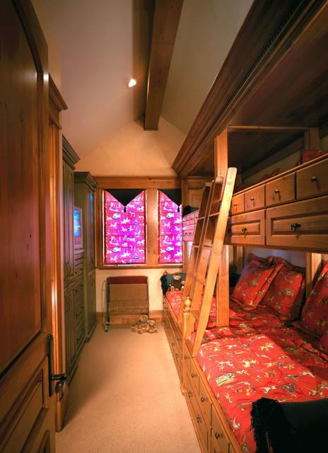 Deer Valley Mountian Home traditional-bedroom