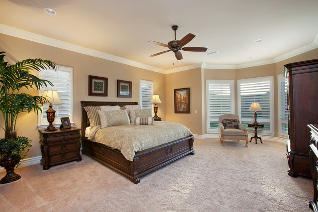 Del Sur - French Country Home Master Bedroom - Traditional ...