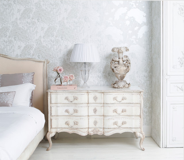 Delphine Distressed Painted Chest Of Drawers Shabby Chic