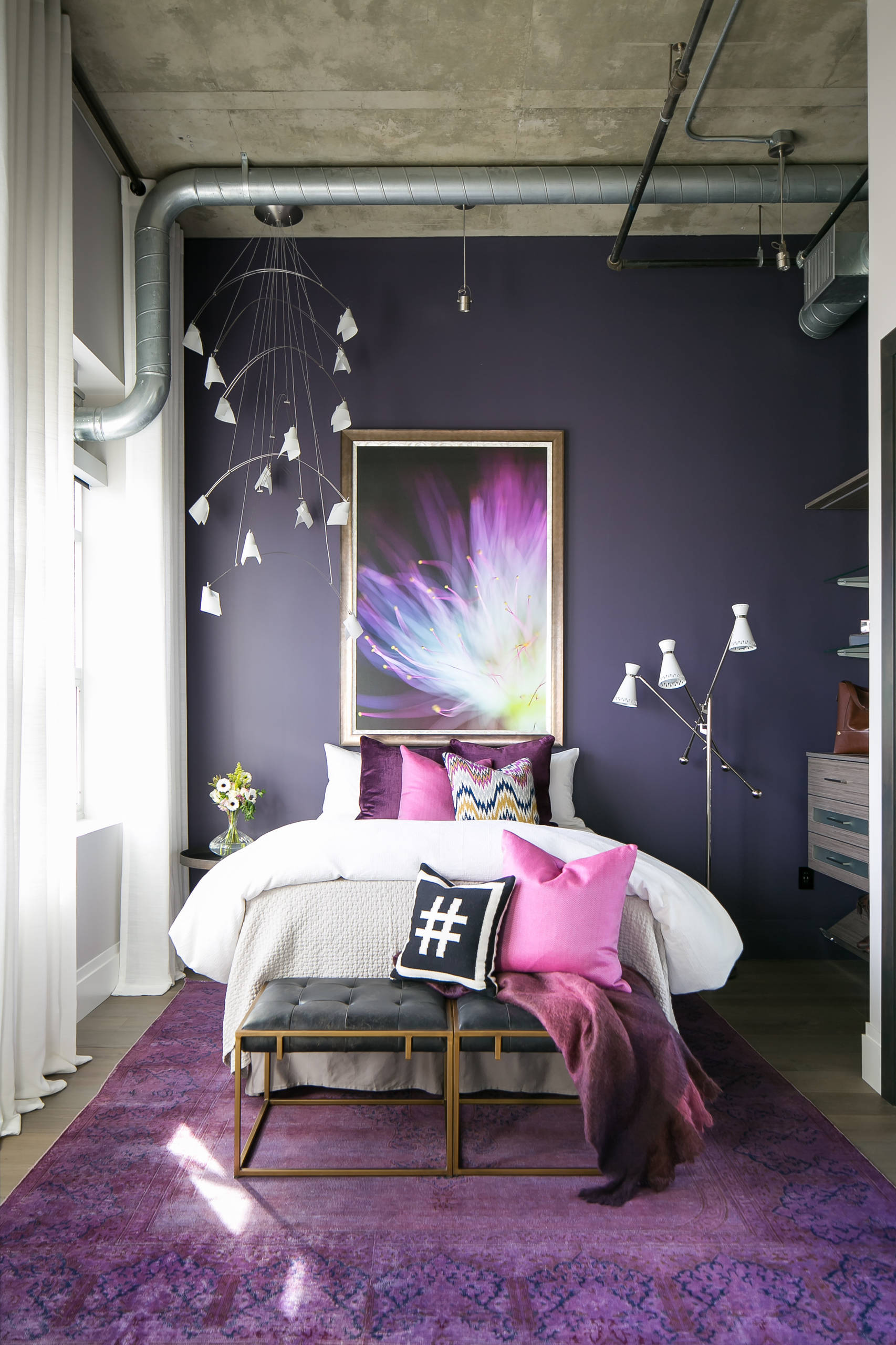75 Beautiful Bedroom With Purple Walls Pictures Ideas September 2020 Houzz