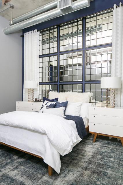 Denver Colorado Residence Loft Style Living - Industrial - Bedroom ...