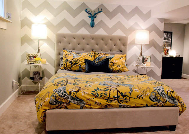 Interior Chevron Bedroom Ideas denver highlands bungalow contemporary bedroom by bedroom