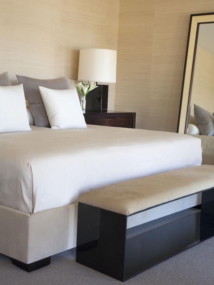 Inspiration for a contemporary bedroom remodel in Denver