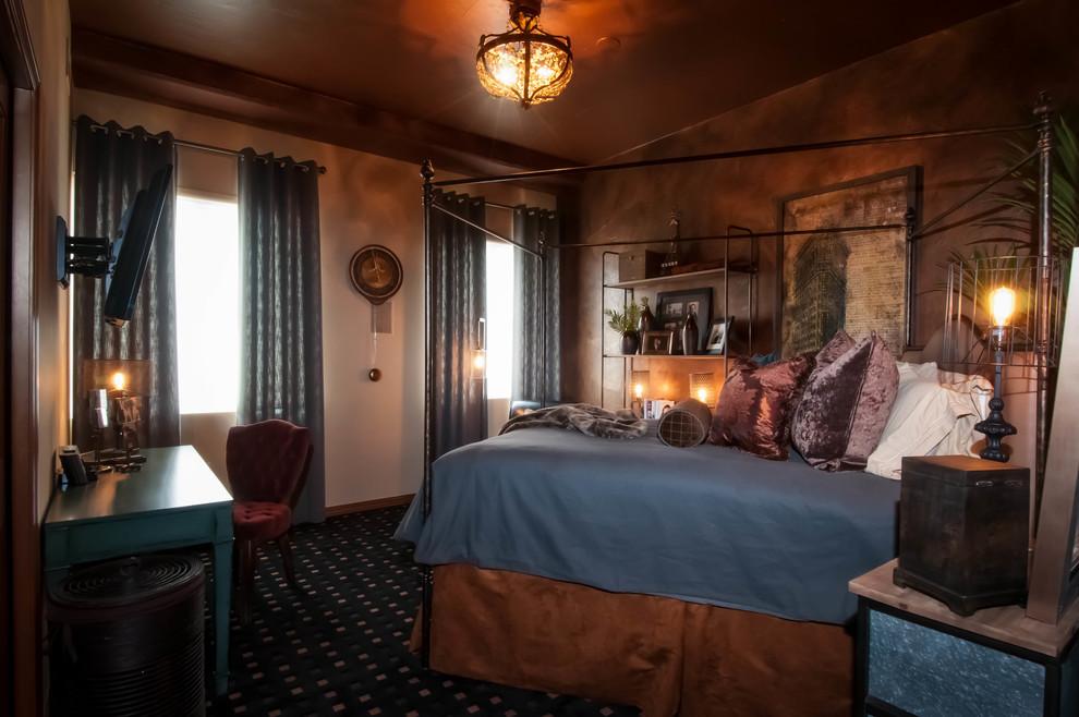Denver Steampunk Loft Industrial Bedroom Denver By D Amore Interiors