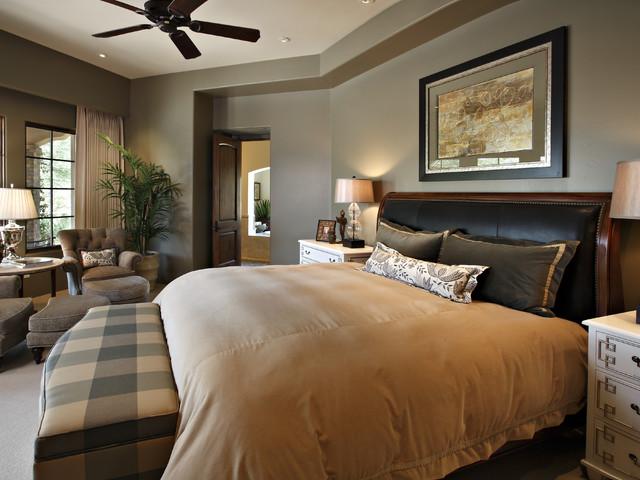 Desert Highland Residence traditional-bedroom