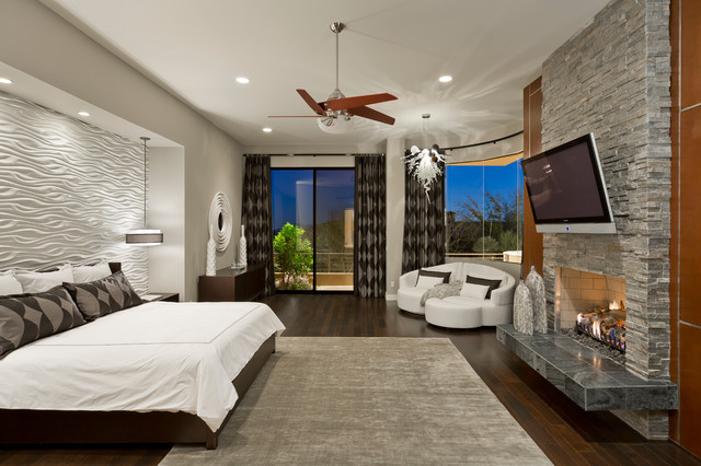 Desert mountain sunset canyon contemporary for Mountain modern bedroom