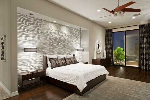 Bedroom with PVC Panelling