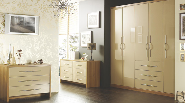 Designer cappuccino gloss modular bedroom furniture contemporary bedroom hampshire Mobile home bedroom furniture