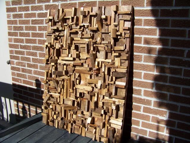 Designer s wooden blocks panels