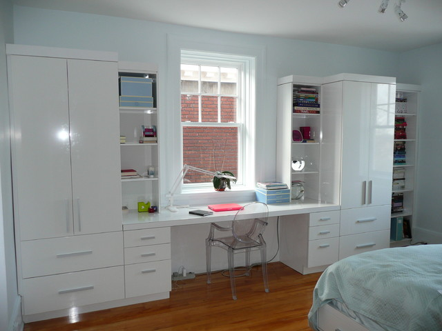 desk wall unit contemporary bedroom montreal by jazzy