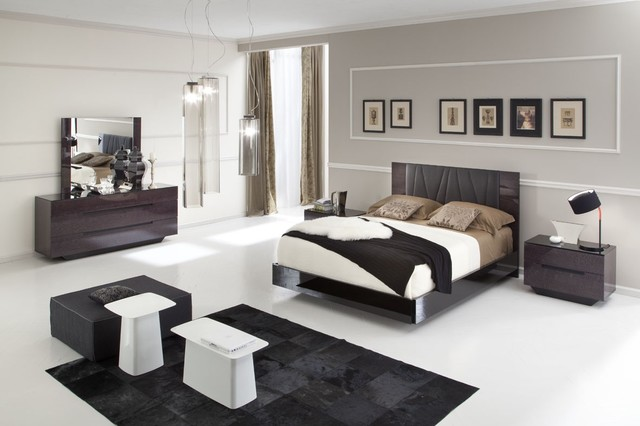modern lacquer made in italy king bedroom set modern bedroom