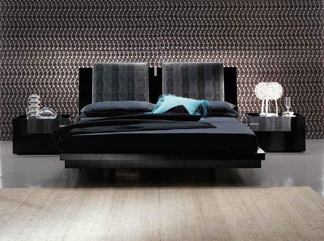 Camere Da Letto Rossetto.Diamond Black Platform Bed By Rossetto 2 099 00 Moderno