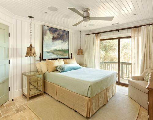 beach style bedroom Ceiling Fans in the Bedroom. Are you a Fan?