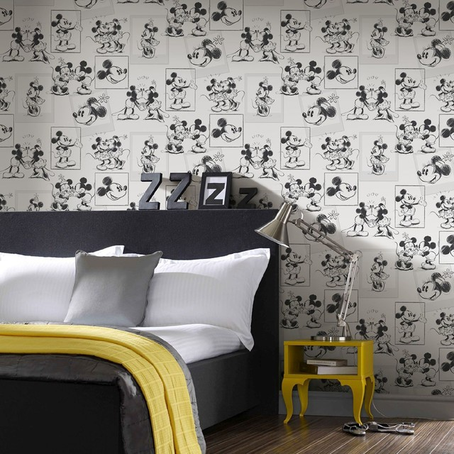 Disney Wallpaper Contemporáneo Dormitorio Mánchester