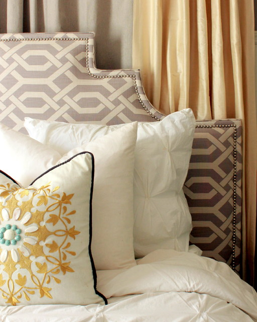 Diy upholstered headboard contemporary bedroom for Modern headboard diy