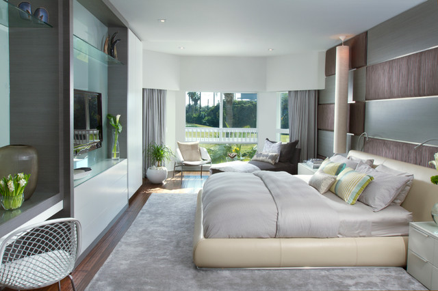 DKOR Interiors A Modern Miami Home Interior Design Contemporary Bedroo