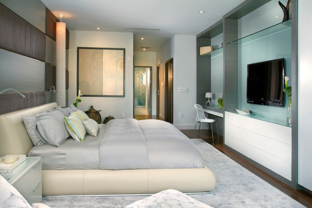 Example Of A Trendy Bedroom Design In Miami