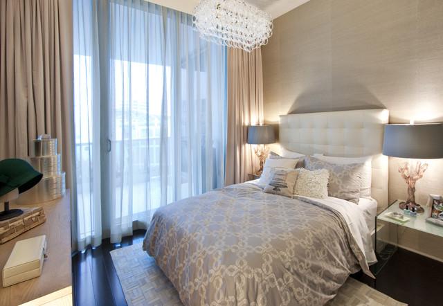 DKOR Interiors - Interior design at the Bath Club in Miami Beach, FL modern-bedroom