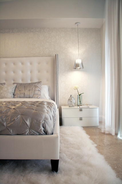 DKOR Interiors - Interior design at the ICON Building in South Beach, FL modern bedroom