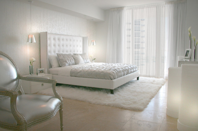DKOR Interiors - Interior design at the ICON Building in South Beach, FL bedroom