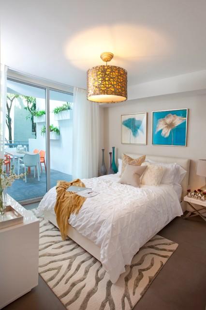 Dkor Interiors Interior Designers Miami Modern South Beach Chic Modern Bedroom Miami